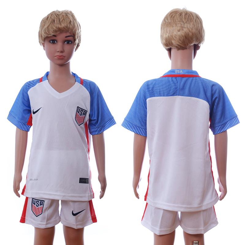 USA Home Youth 2016 Copa America Centenario Soccer Jersey