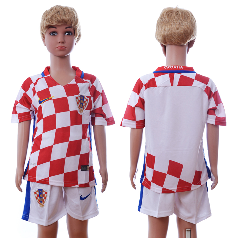 Croatia Home Euro 2016 Youth Soccer Jersey