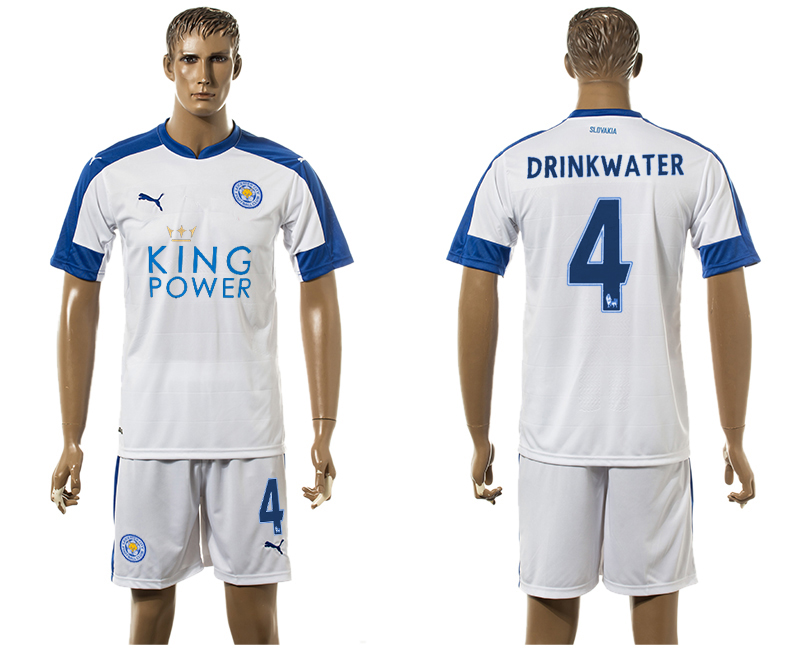 2015-16 Leicester City 4 DRINKWATER Third Away Soccer Jersey