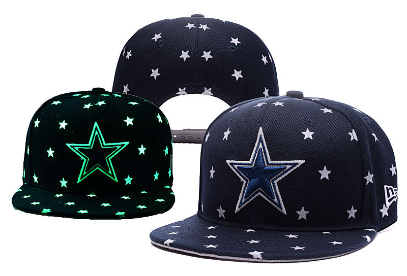 Cowboys Team Logo Navy Adjustable Luminous Hat YD