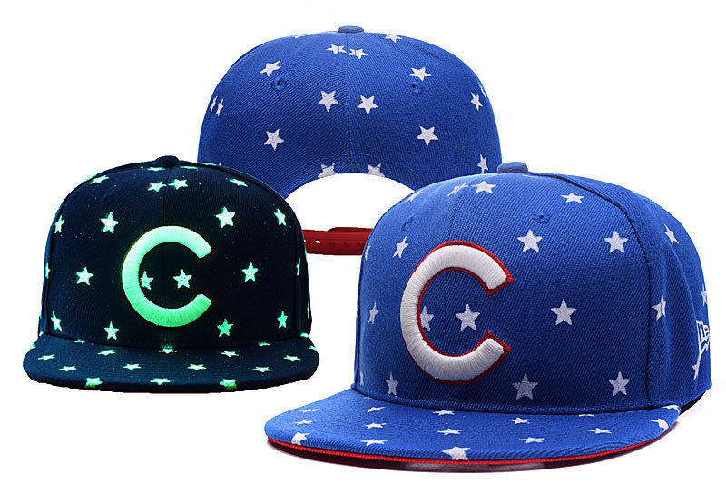 Cubs Team Logo Blue Adjustable Luminous Hat YD