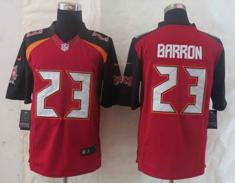 Nike Buccaneers 23 Barron Red Limited Jerseys