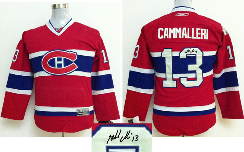 Canadiens 13 Cammalleri Red Signature Edition Youth Jerseys
