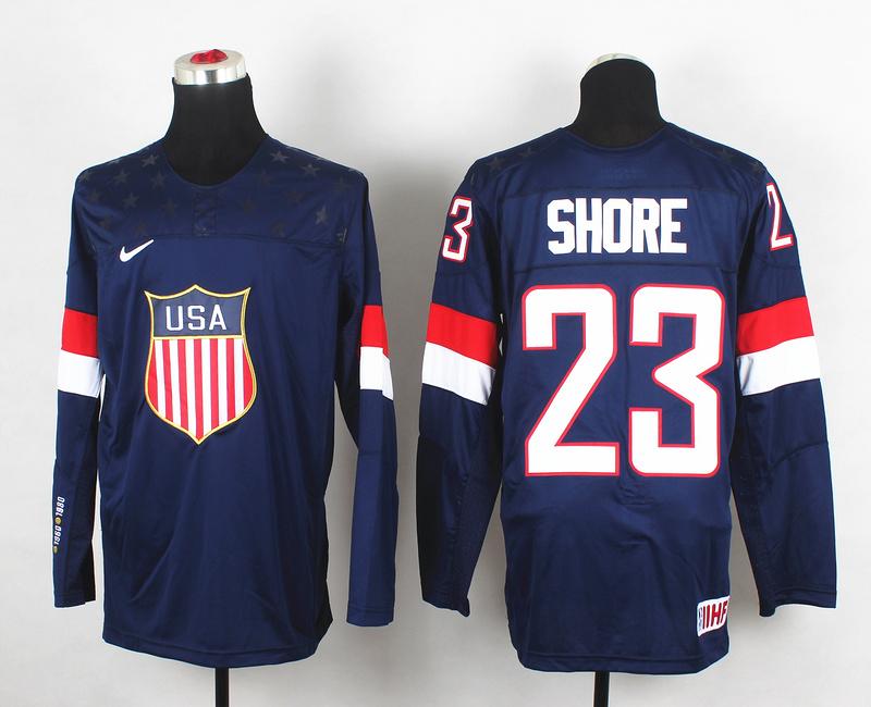 USA 23 Shore Blue 2014 Olympics Jerseys