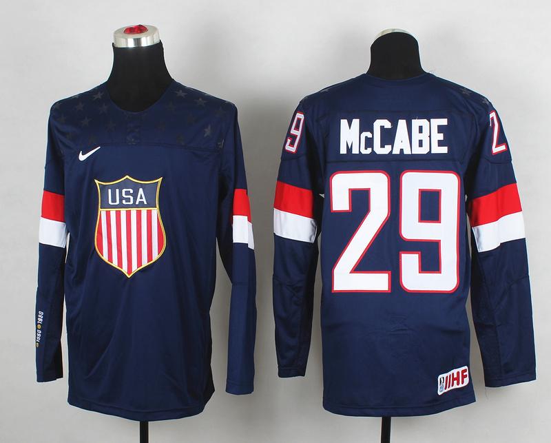 USA 29 McCabe Blue 2014 Olympics Jerseys