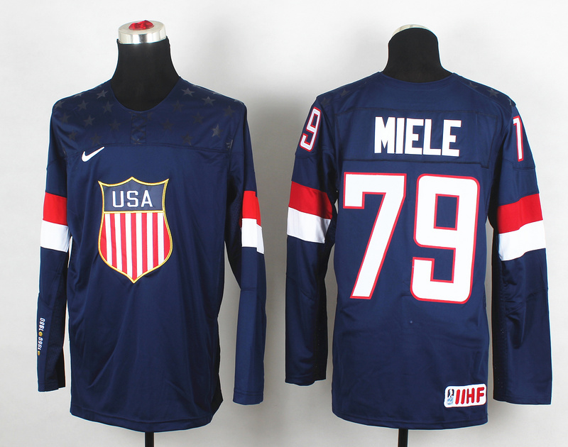 USA 79 Miele Blue 2014 Olympics Jerseys