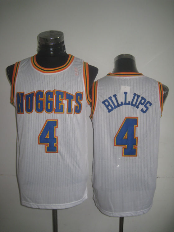 Nuggets 4 Billups White New Revolution 30 Jerseys