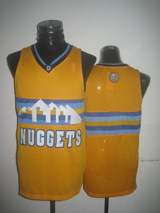 Nuggets Blank Yellow New Revolution 30 Jerseys