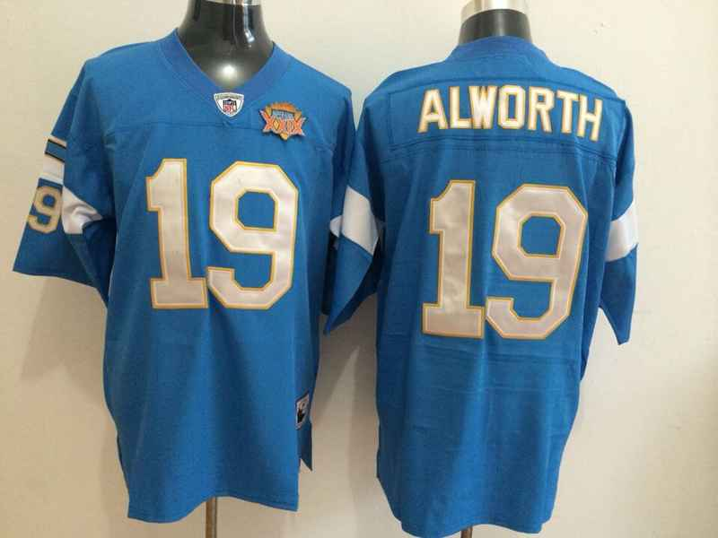 Chargers 19 Alworth Blue Mitchell&Ness Jerseys