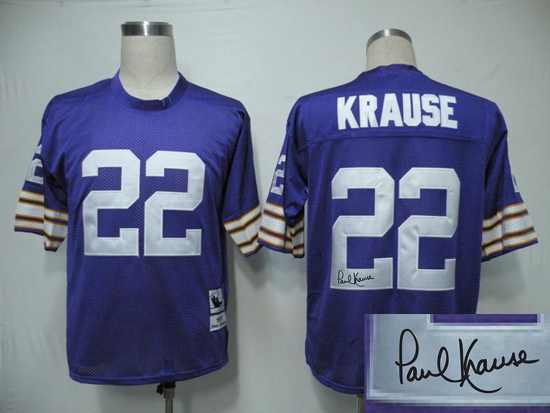 Vikings 22 Karuse Purple Throwback Signature Edition Jerseys