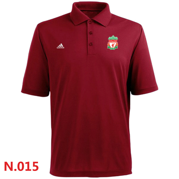 Adidas Liverpool FC Textured Solid Performance Polo Red