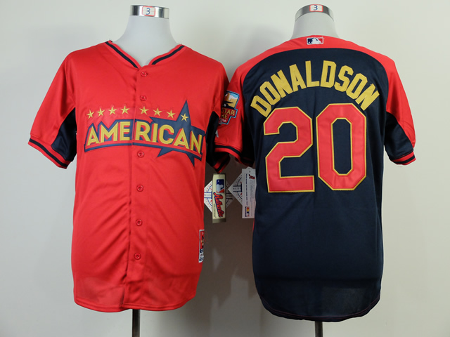 American League Athletics 20 Donaldson Red 2014 All Star Jerseys