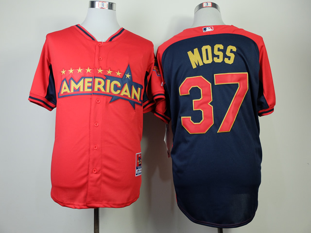 American League Athletics 37 Moss Red 2014 All Star Jerseys