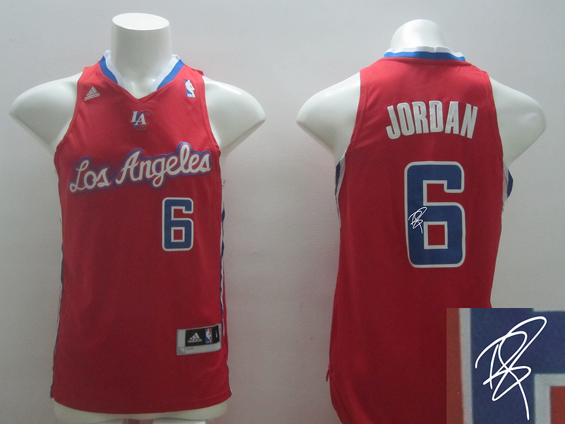 Clippers 6 Jordan Red New Revolution 30 Signature Edition Jerseys