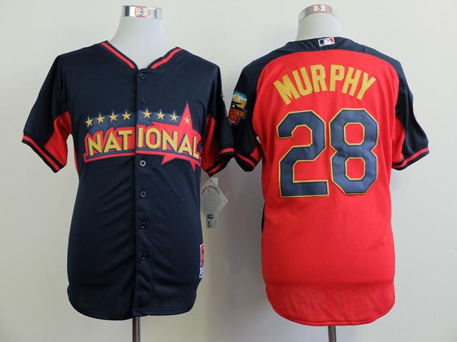 National League Mets 28 Murphy Blue 2014 All Star Jerseys