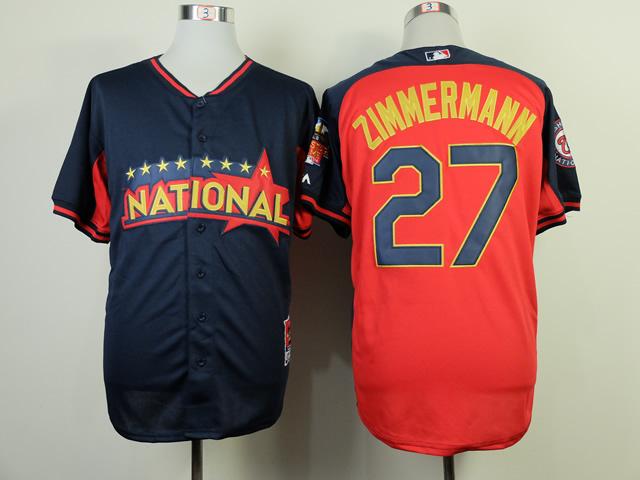 National League Nationals 27 Zimmerman Blue 2014 All Star Jerseys