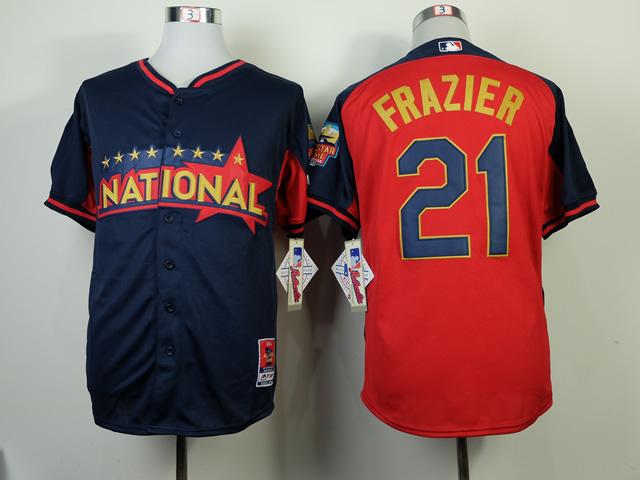 National League Reds 21 Frazier Blue 2014 All Star Jerseys