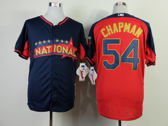National League Reds 54 Chapman Red 2014 All Star Jerseys