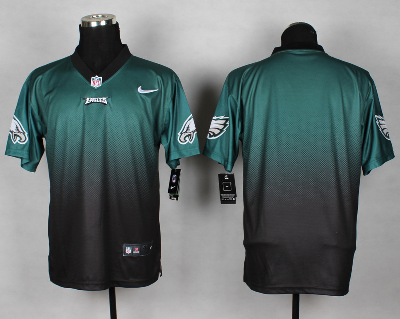 Nike Eagles Green And Black Drift II Elite Custom Jerseys