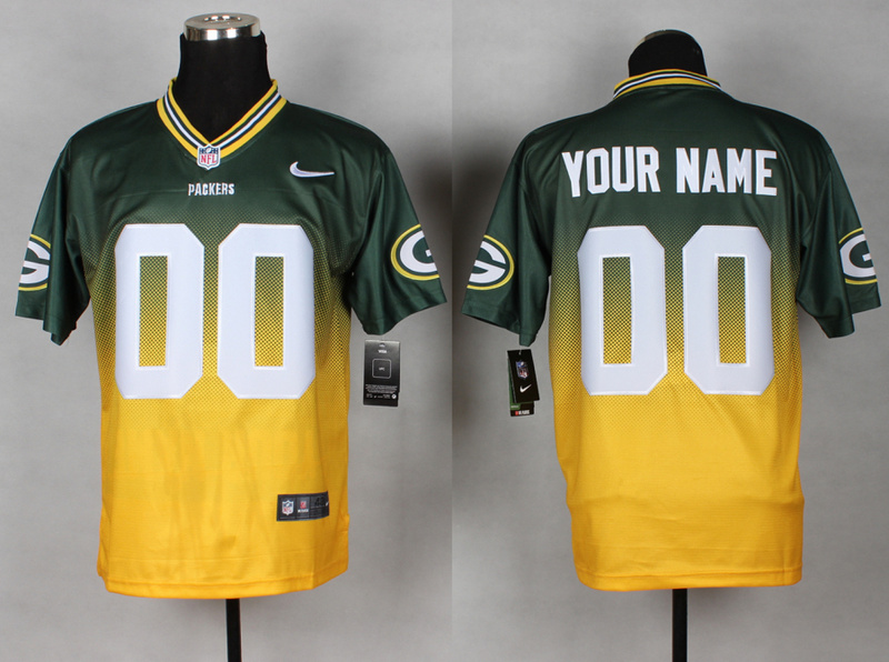 Nike Packers Green And Gold Drift II Elite Custom Jerseys