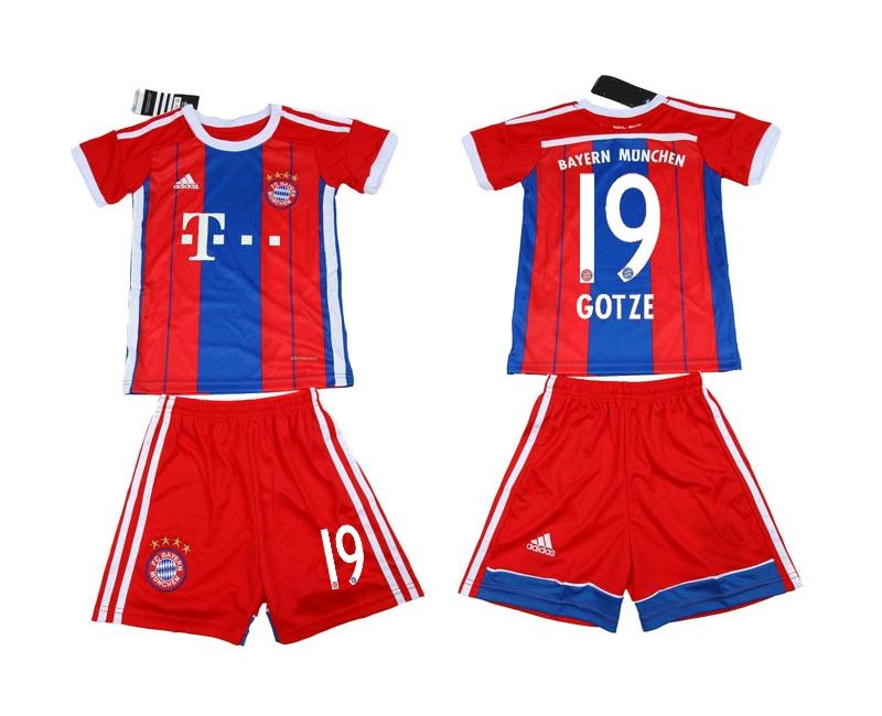 2014-15 Bayern Munchen 19 Gotze Home Youth Soccer Jersey