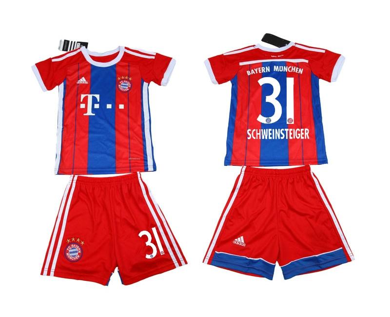 2014-15 Bayern Munchen 31 Schweinsteiger Home Youth Soccer Jersey