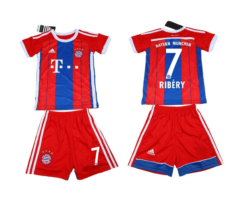 2014-15 Bayern Munchen 7 Ribery Home Youth Soccer Jersey