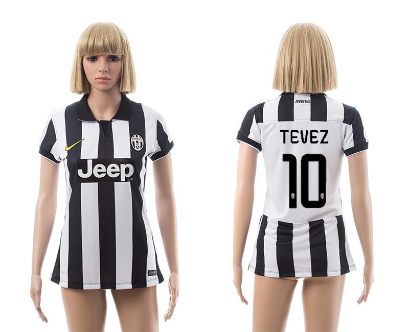 2014-15 Juventus 10 Tevez Home Women Jerseys