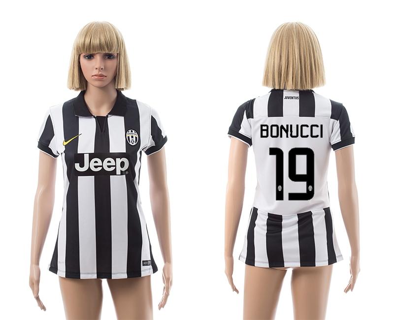 2014-15 Juventus 19 Bonucci Home Women Jerseys