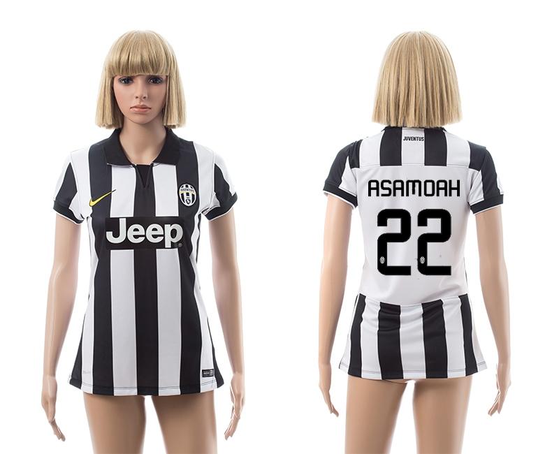2014-15 Juventus 22 Asamoah Home Women Jerseys