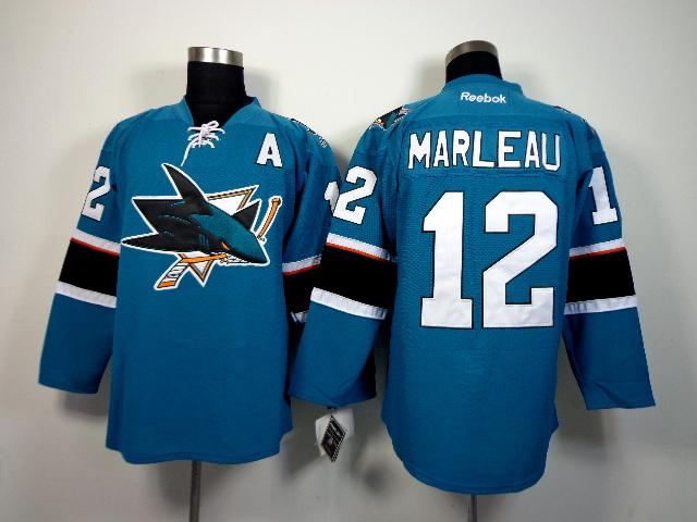 Sharks 12 Marleau Teal 2015 Reebok Jerseys