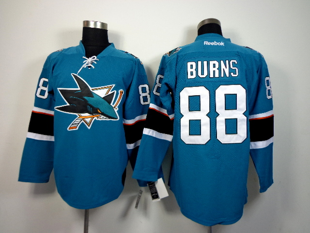 Sharks 88 Burns Teal 2015 Reebok Jerseys