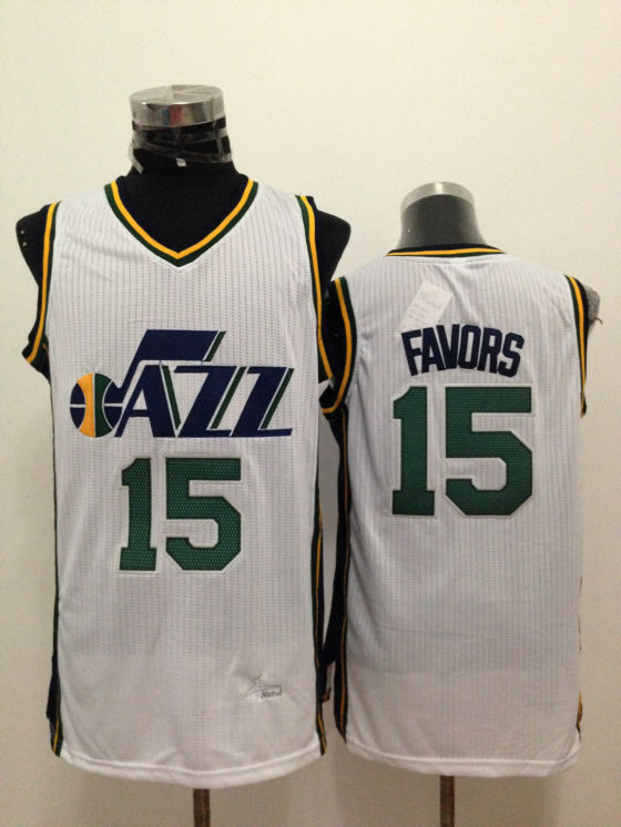 Jazz 15 Favors White New Revolution 30 Jerseys