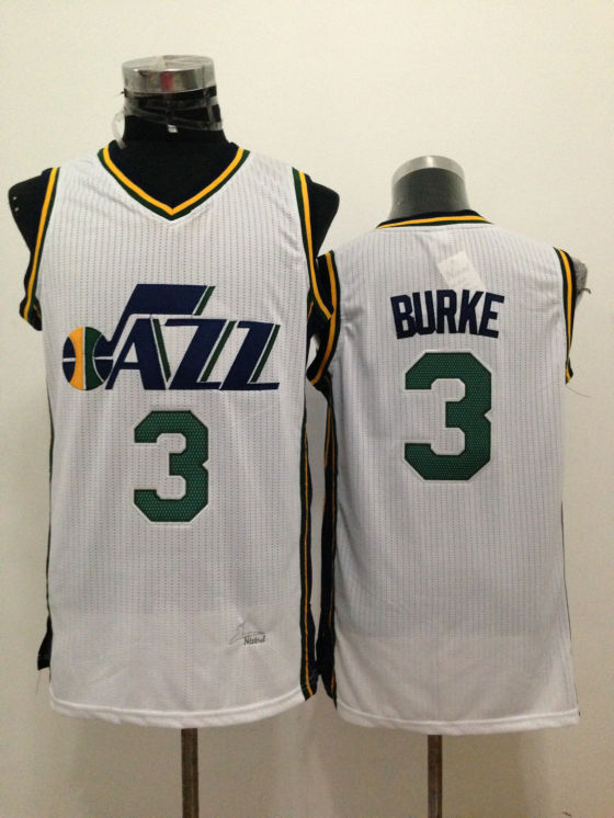 Jazz 3 Burke White New Revolution 30 Jerseys