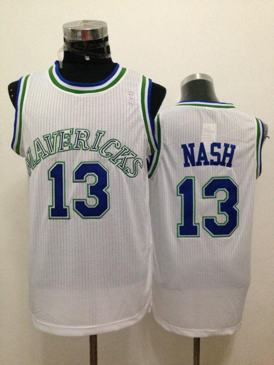 Mavericks 13 Nash White New Revolution 30 Jerseys