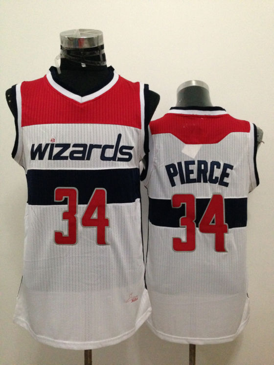 Wizards 34 Pierce White New Revolution 30 Jerseys