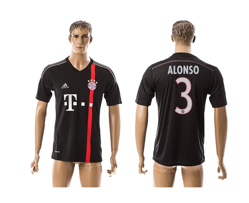2014-15 Bayern Muchen 3 Alonso Third Away Thailand Jerseys