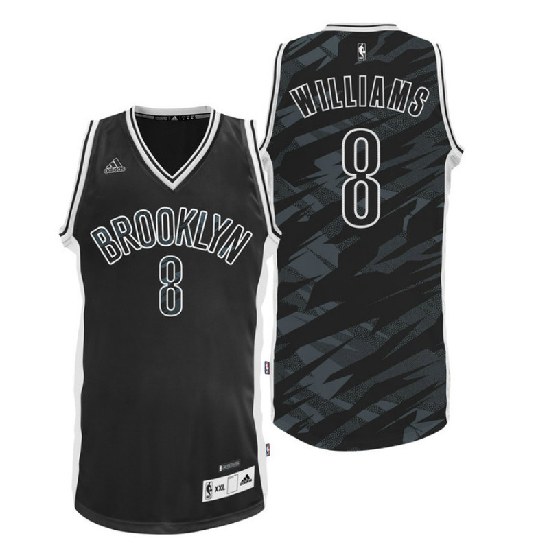 Brooklyn Nets 8 Williams Black Stacked Swingman Jerseys