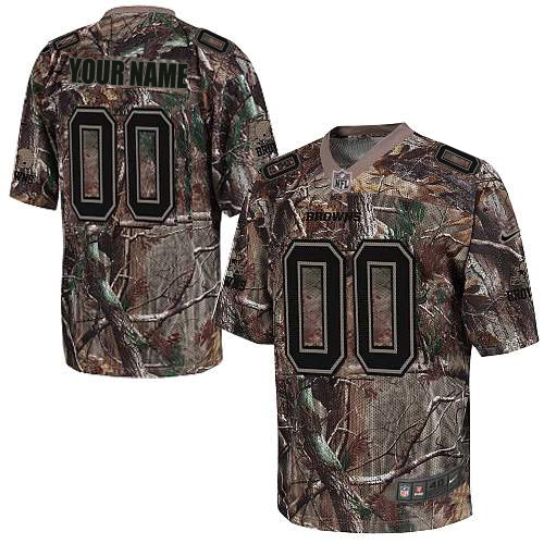 Nike Cleveland Browns Customized Elite Camo Jerseys