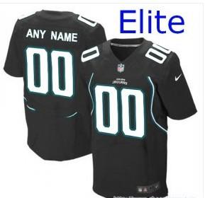 Nike Jacksonville Jaguars Customized Elite Black Jerseys