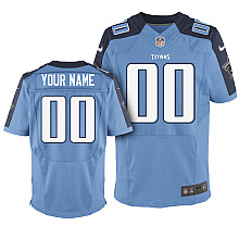 Nike Tennessee Titans Customized Elite light blue Jerseys