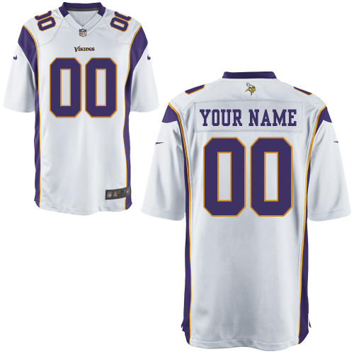 Nike Minnesota Vikings Customized Game White Jerseys