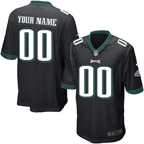 Nike Philadelphia Eagles Customized Game Black Jerseys