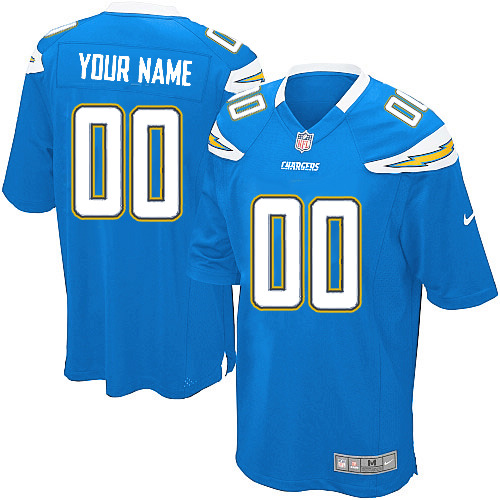 Nike San Diego Chargers Customized Game Baby Blue Jerseys