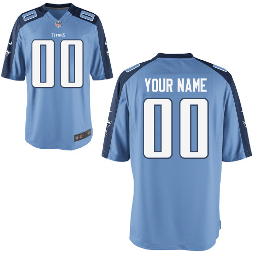 Nike Tennessee Titans Customized Game Baby Blue Jerseys