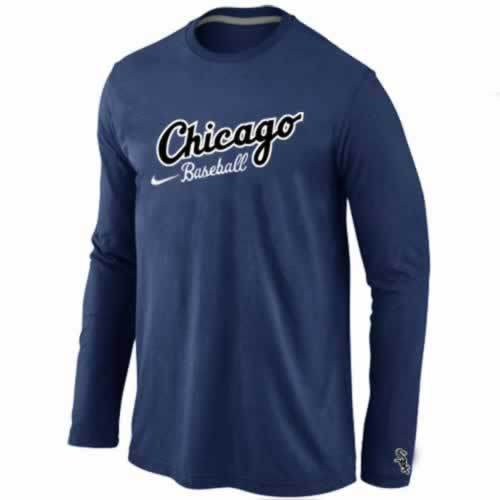 Chicago White Sox Long Sleeve T-Shirt D.Blue