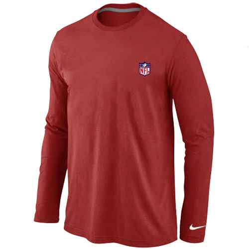 NFL logo Long Sleeve T-Shirt Red