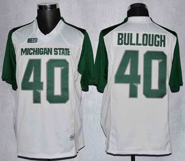 Michigan State Max Bullough 40 College White Jerseys