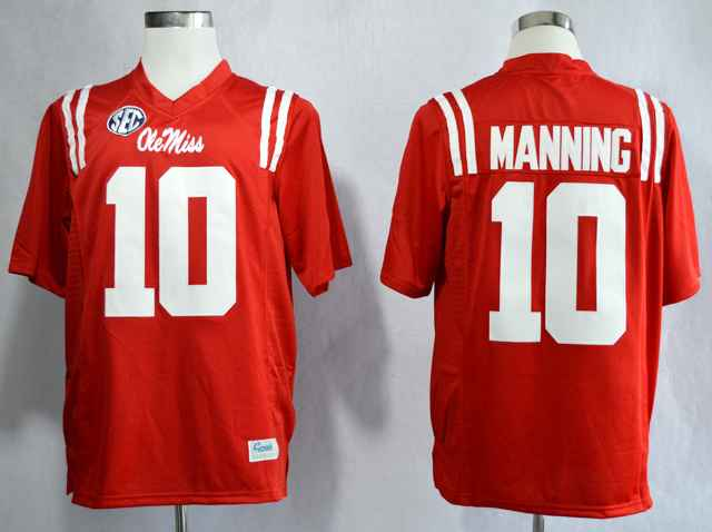 Ole Miss Rebels Eli Manning 10 College Red Jerseys