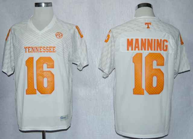 Tennessee Volunteers Peyton Manning 16 College White Techfit Jersey